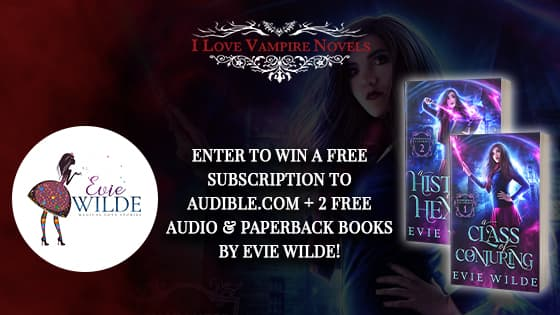Win A 3-Month Subscription To Audible.com + Paperback Books by Evie Wilde!