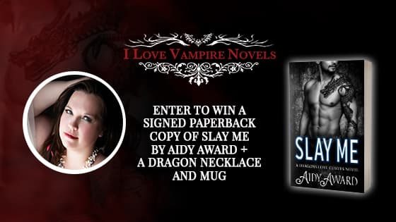 Win A Signed Paperback Copy Of  SLAY ME by Aidy Award + A Dragon Necklace & Mug!