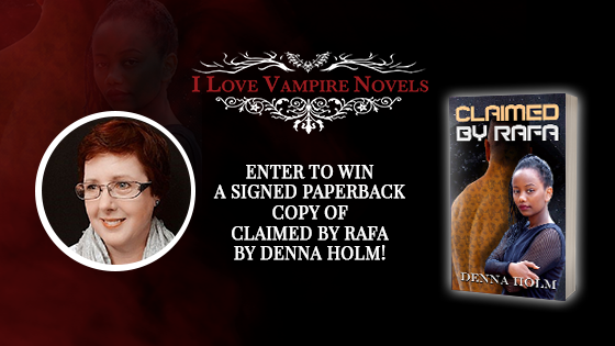 Win A Signed Paperback Copy Of  CLAIMED BY RAFA by Denna Holm!