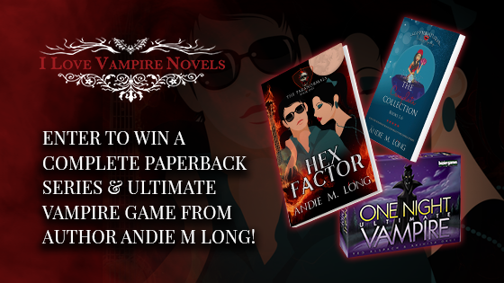 Win A Complete Paperback Series & Ultimate Vampire Game from Author Andie M Long!