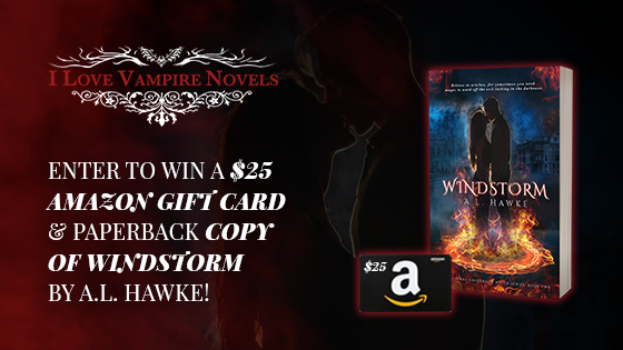 Win A $25 Amazon Gift Card & Paperback Copy of WINDSTORM by A.L. Hawke!