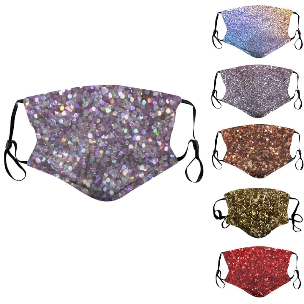 Glitter Sequins Reusable Face Cover
