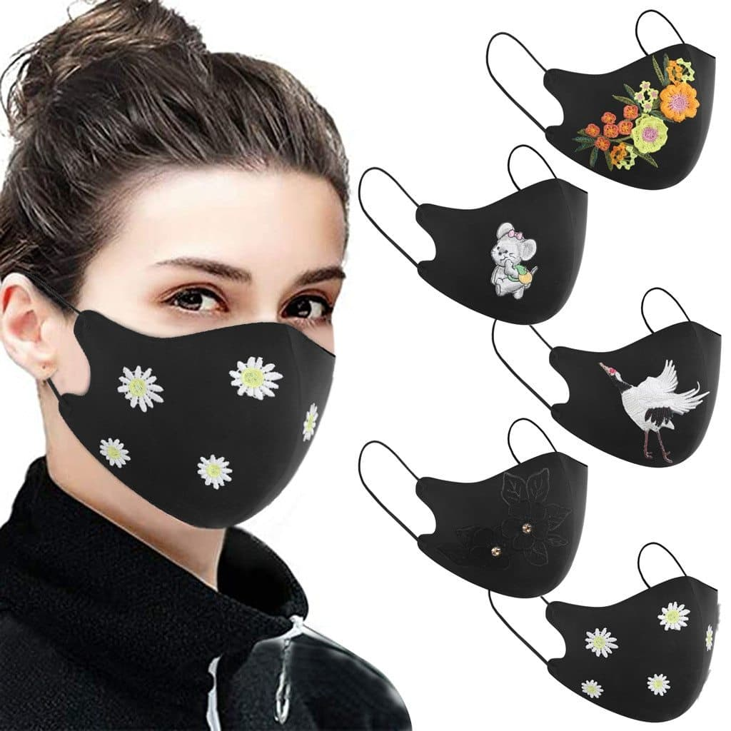 Cute Embroidery Face Covers