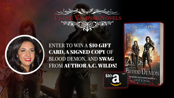 Win A $10 Gift Card, A Signed Copy of Blood Demon, and SWAG from A.C. Wilds!