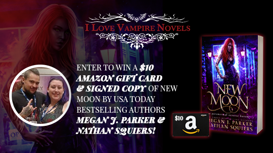 Win A $10 Gift Card & Signed Copy Of New Moon By USA Today Bestselling Authors Megan J. Parker & Nathan Squiers!