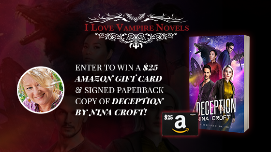 Win A $25 Amazon Gift Card & Signed Paperback Copy Of Deception by Nina Croft!