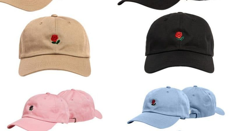 ROSE EMBROIDERY BASEBALL CAP