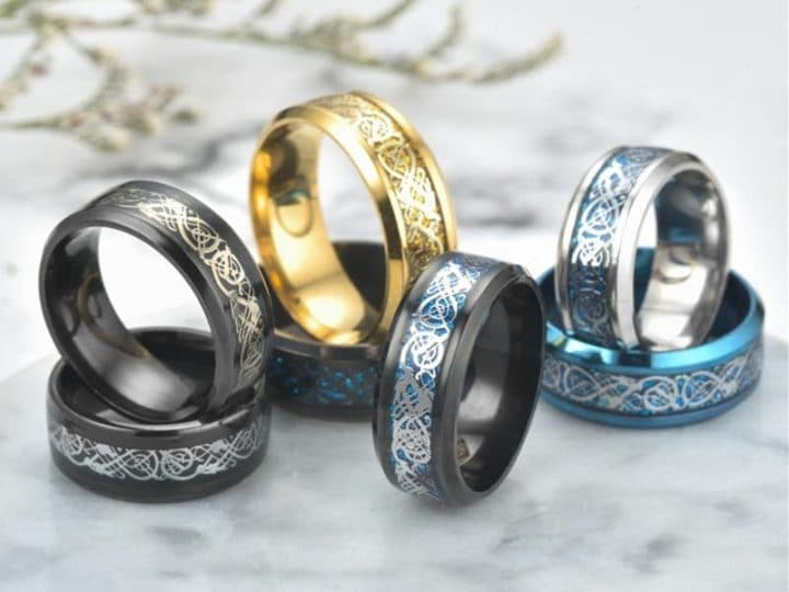 STAINLESS STEEL DRAGON RINGS
