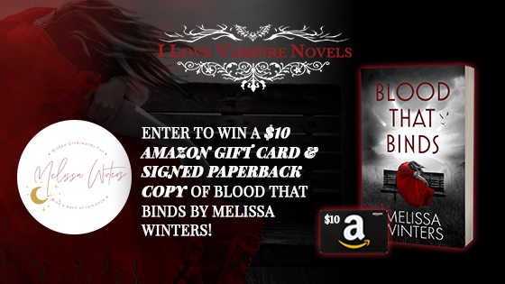 Win A $10 Amazon Gift Card & Signed Paperback Copy Of Blood That Binds By Melissa Winters!