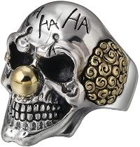 skull ring: clown ring