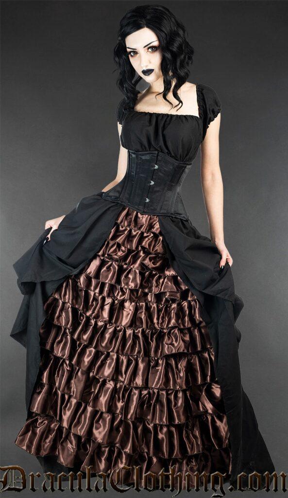 steampunk dress: long victorian dress